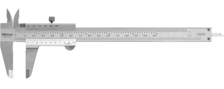 Mitutoyo 530-118 Vernier Caliper 200mm x 0.02mm (Inch/Metric)