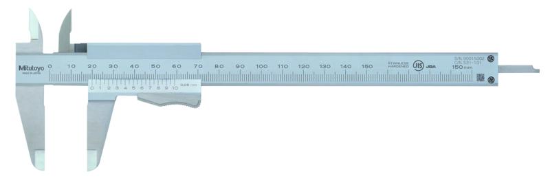 Mitutoyo 531-101 Vernier Caliper 150mm x 0.05mm (Thumb Clamp)