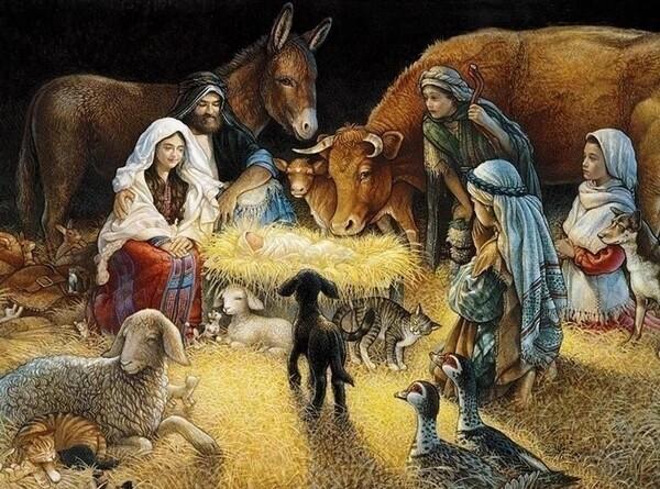 Paint by Diamond Kit Birth Of Christ 30 x 40cm