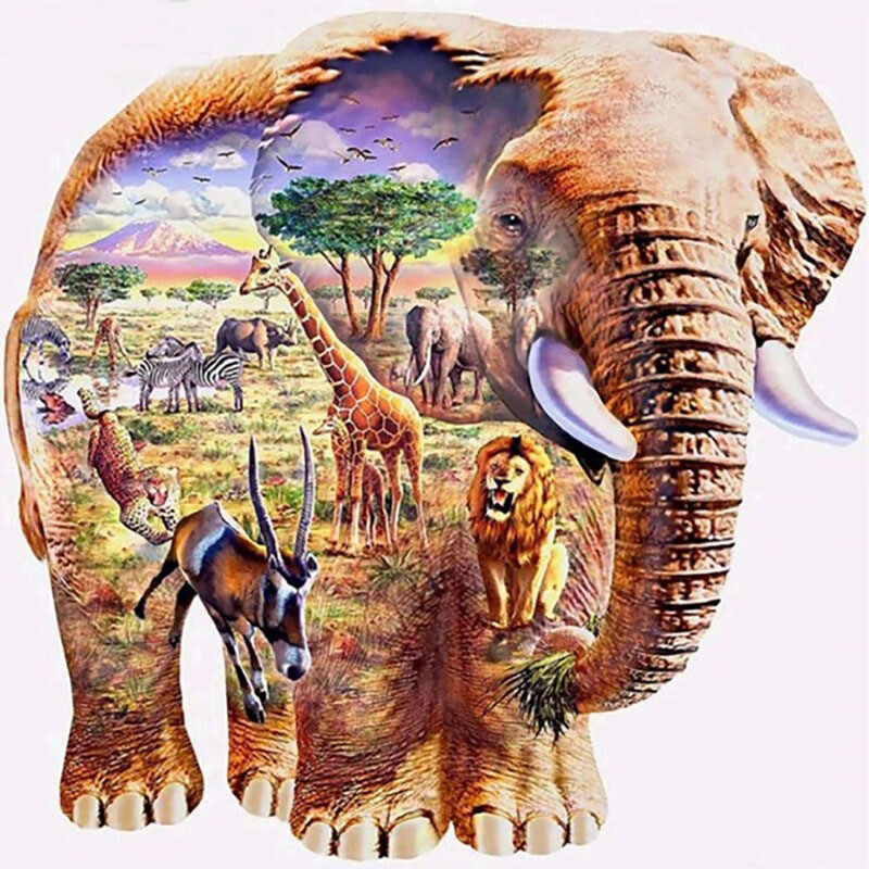 Paint by Diamond Kit African Pride 30 x 40cm