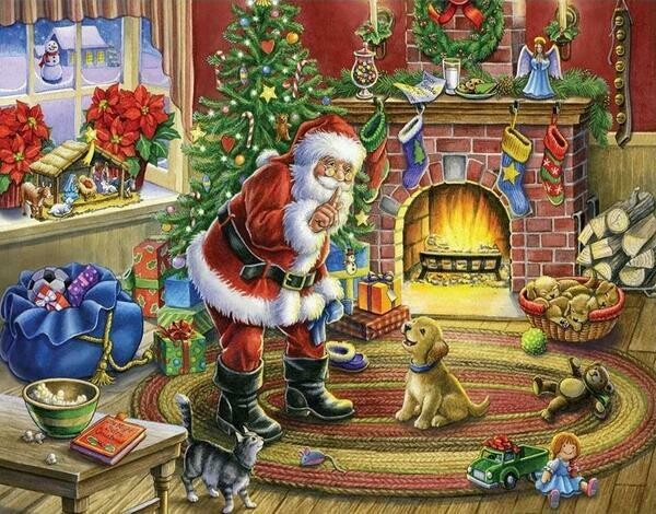 Paint by Diamond Kit Santa Surprise 30 x 40cm