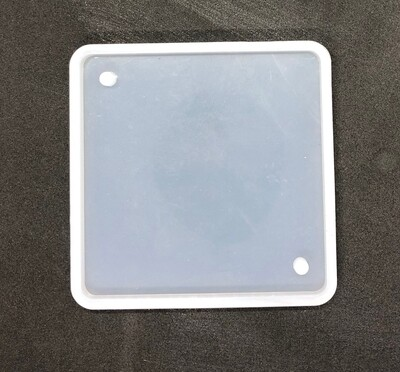 Silicone Mould - 48mm² square with 2 holes