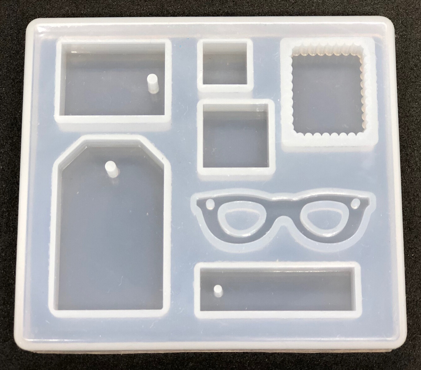 Silicone Mould - pendants of glass