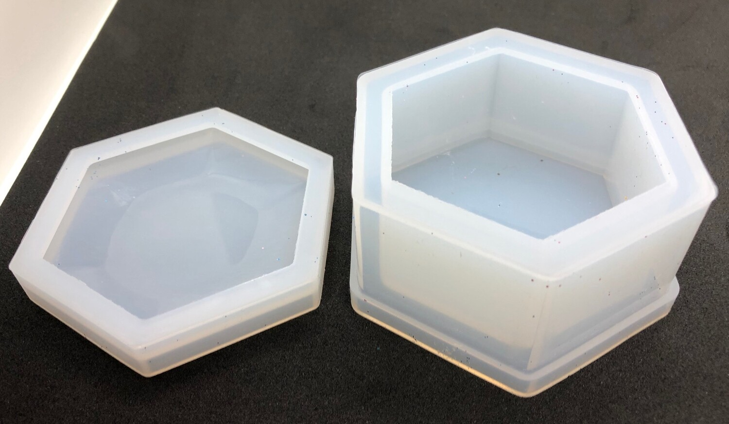 Silicone Mould - Storage box hexagonal