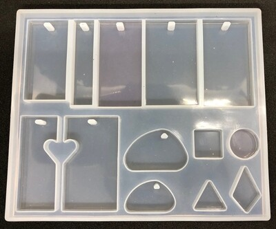 Silicone Mould - Tray with rectangular pendants