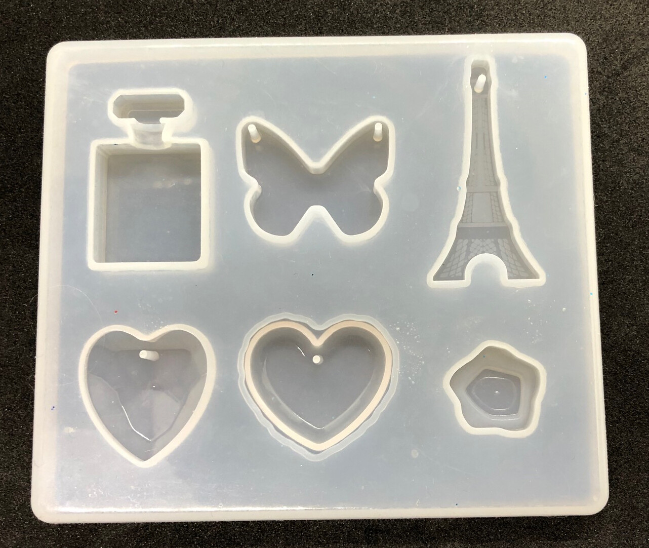 Silicone Mould - Small tray with Eiffel tower with holes