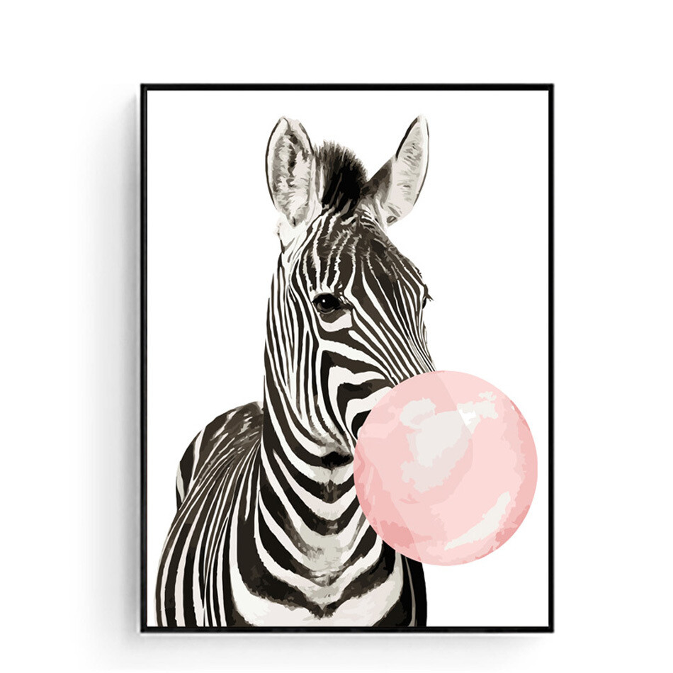 Paint By Number Kit Zebra Blowing 40 x 50cm