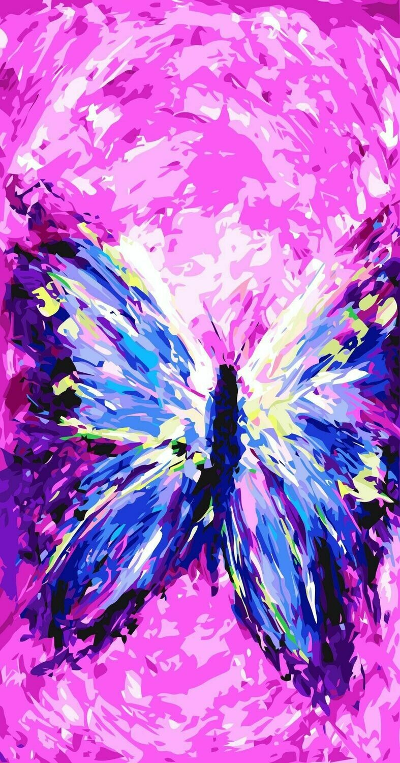 Paint by Number Kit Butterfly Dream 40 x 50cm