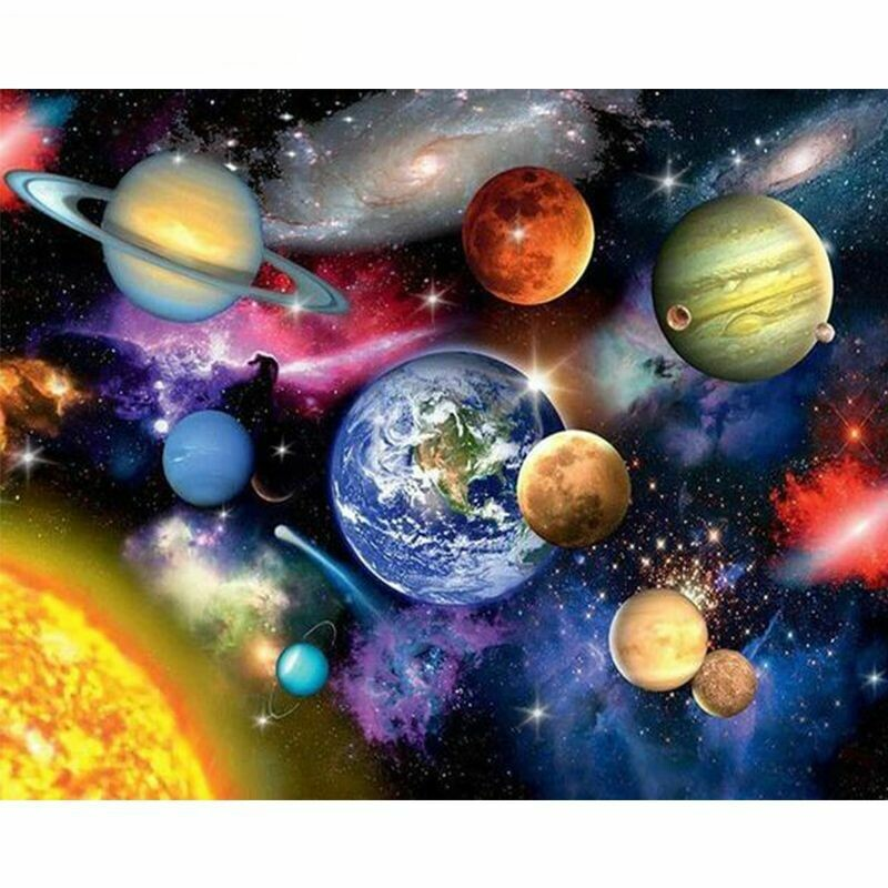 Paint by Number Kit Solar System 40 x 50cm