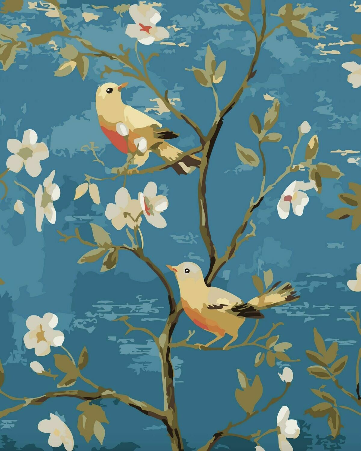Paint by Number Kit Robin Pair 40 x 50cm