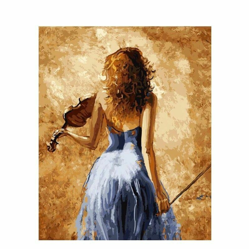 Paint by Number Kit The Violinist 40 x 50cm