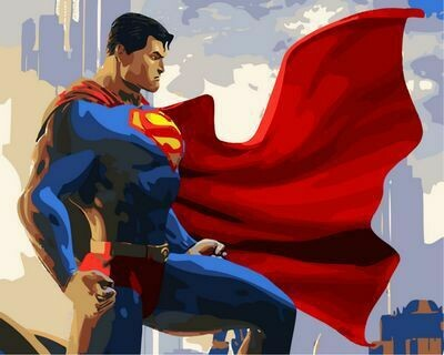 Paint by Number Kit Man of Steel 40 x 50cm