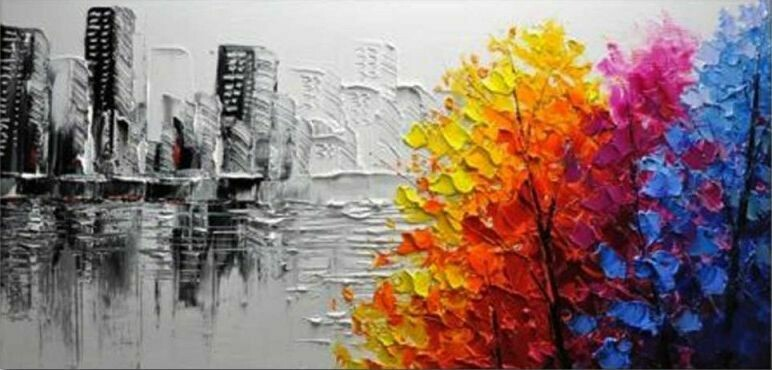 Paint by Number Kit City View 40 x 50cm