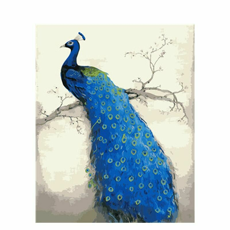 Paint by Number Kit Peacock Watching 40 x 50cm