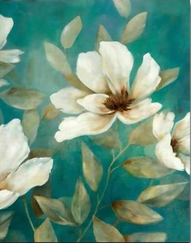Paint by Number Kit Lily Flowers 40 x 50cm
