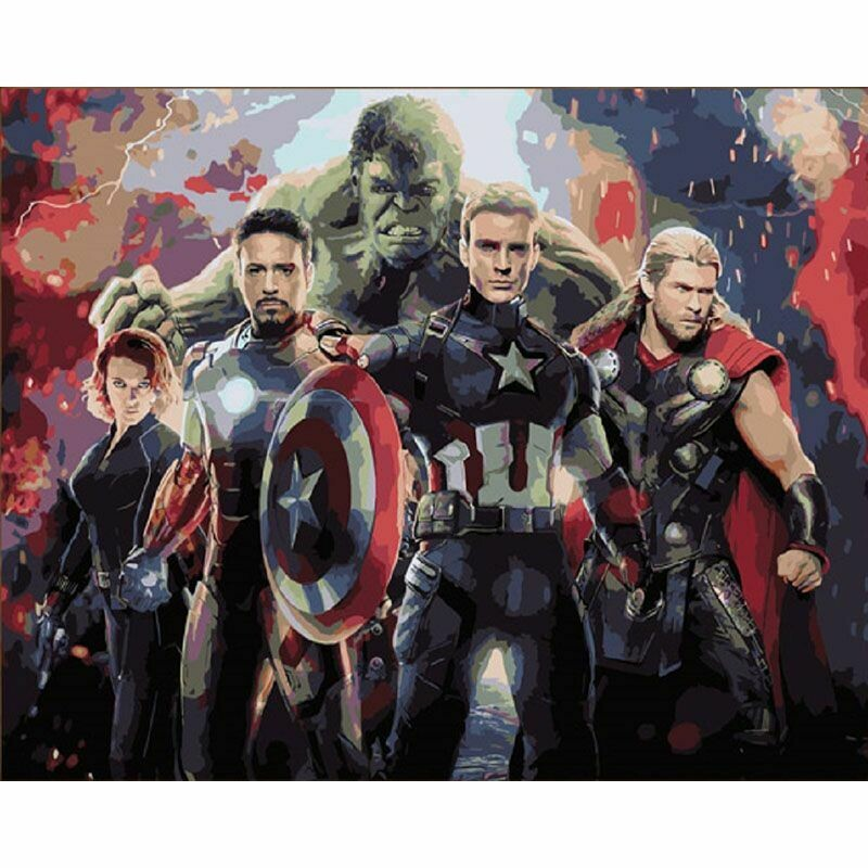 Paint by Number Kit The Avengers 40 x 50cm