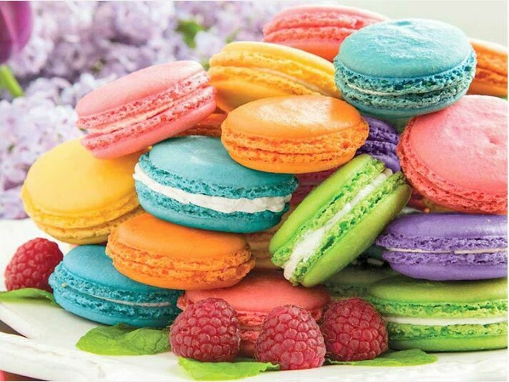 Paint by Number Kit Macaroons 40 x 50cm