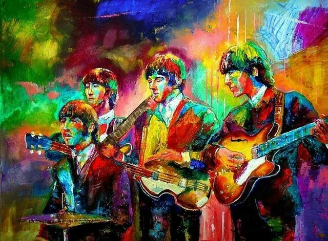 Paint by Number Kit The Beatles (Psychedelic) 40 x 50cm