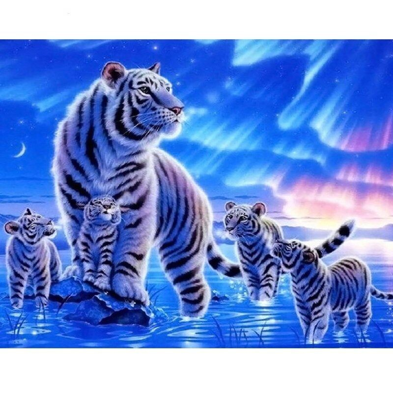 Paint by Number Kit Siberian Family 40 x 50cm