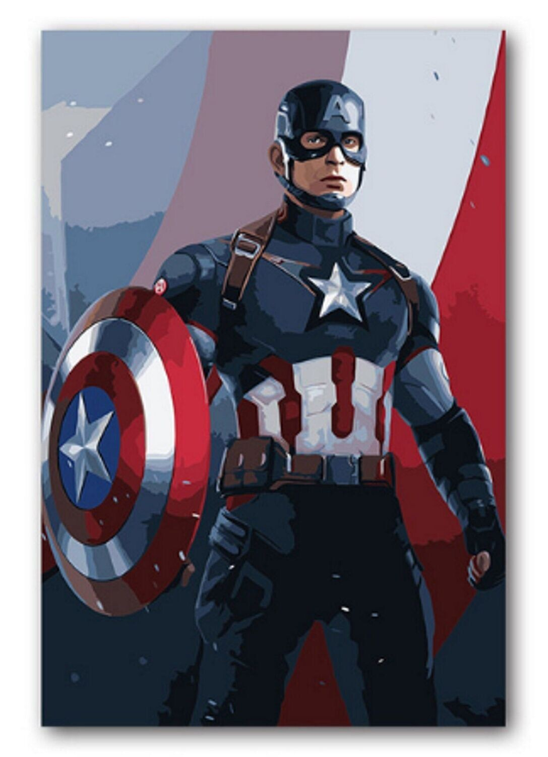 Paint by Number Kit Captain America 40 x 50cm