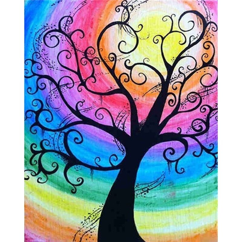 Paint by Number Kit Sunshine Tree 40 x 50cm