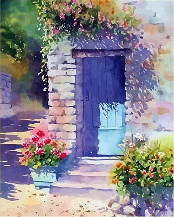 Paint by Number Kit Flower Entrance 40 x 50cm