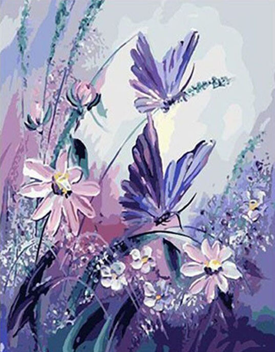 Paint by Number Kit Butterfly Party 40 x 50cm