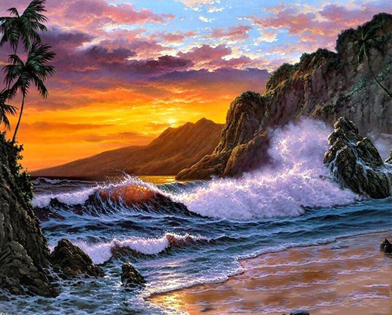 Paint by Number Kit Exquisite Sunset 40 x 50cm