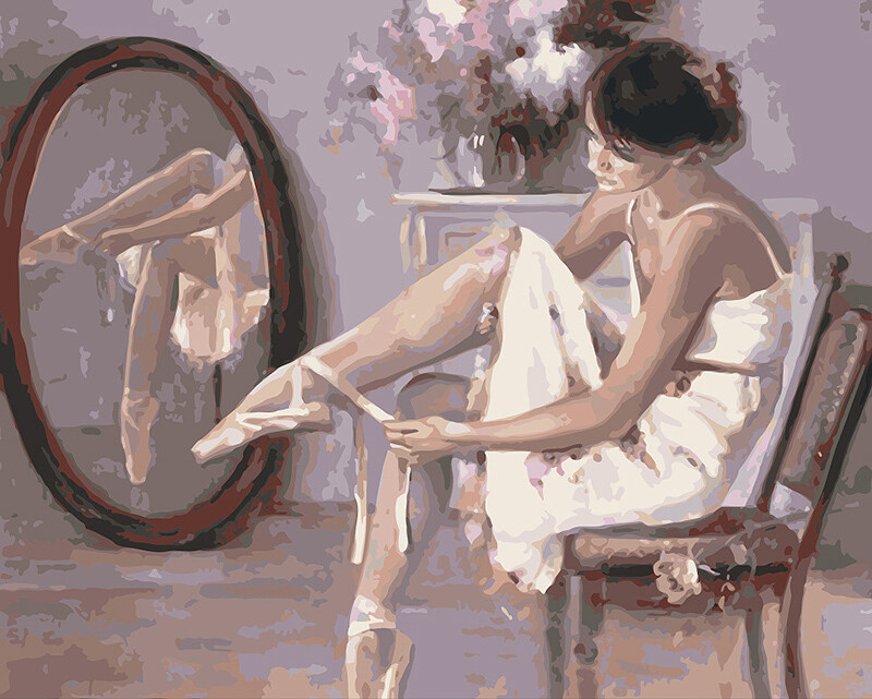 Paint by Number Kit Ballerina 40 x 50cm