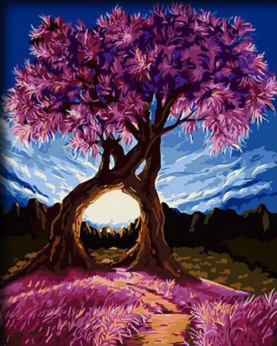 Paint by Number Kit Eastern Redbuds 40 x 50cm