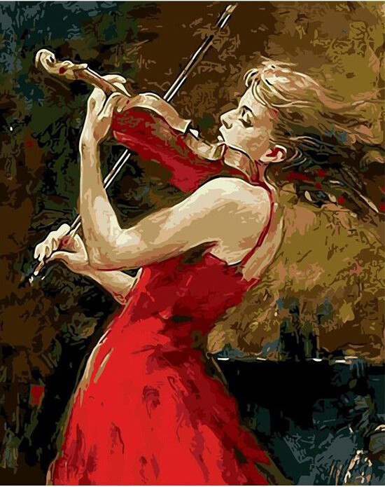 Paint by Number Kit Passionate Violinist 40 x 50cm