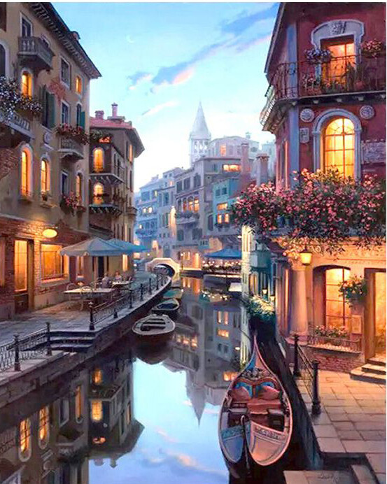 Paint by Number Kit Evening in Venice 40 x 50cm