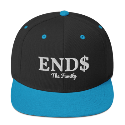 ENDS The Family Snapback White Stitch Hat