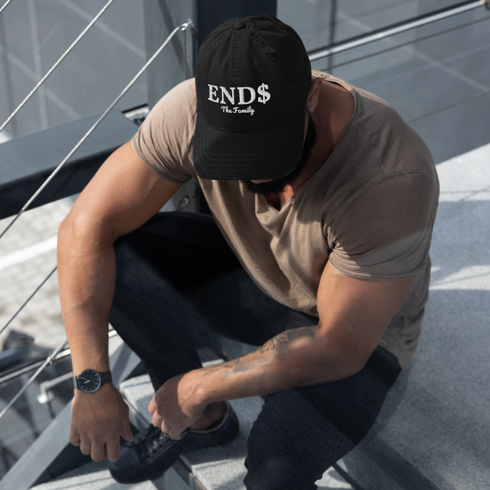 ENDS Distressed Dad Hat
