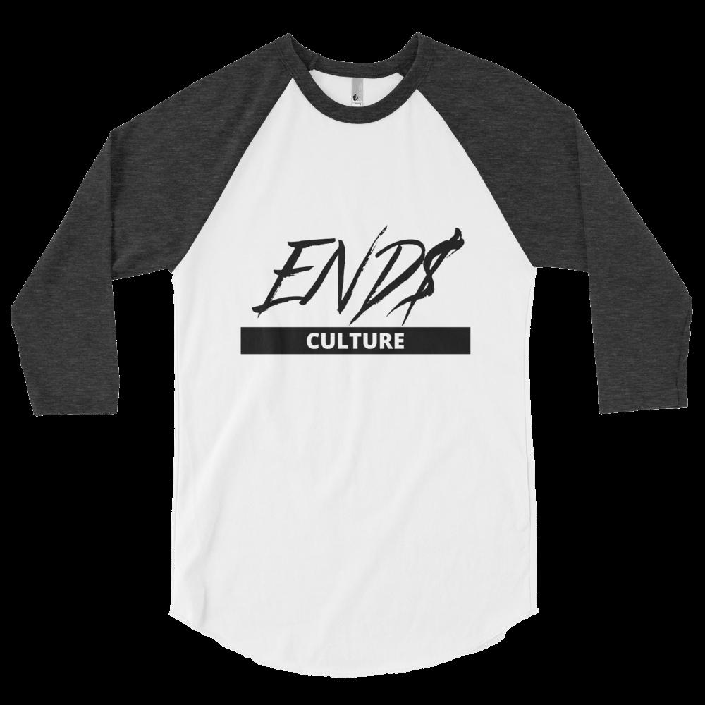 3/4 END$ Culture Scripture sleeve raglan shirt