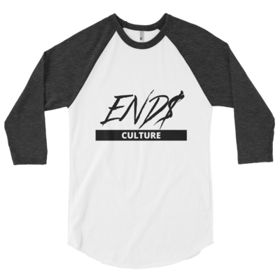 3/4 END$ Culture Scripture sleeve raglan shirt