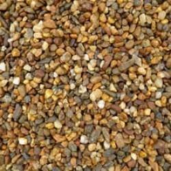 "3/8"" River Stone / Pea Stone / Multi-Tan (by Cubic Yard)"