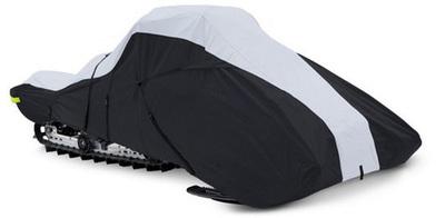 Full-Fit Trailerable Snowmobile Covers 600 Denier - Black/Gray
