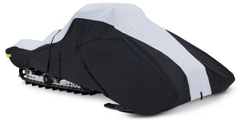 Full-Fit Trailerable Snowmobile Covers 600 Denier - Black/Gray