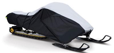 Deluxe Trailerable Snowmobile Covers 600 Denier - Black/Gray