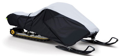 Deluxe Trailerable Snowmobile Covers 600 Denier - Black/Gray