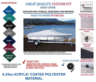 BLUE WAVE-CUSTOM FIT BOAT COVER