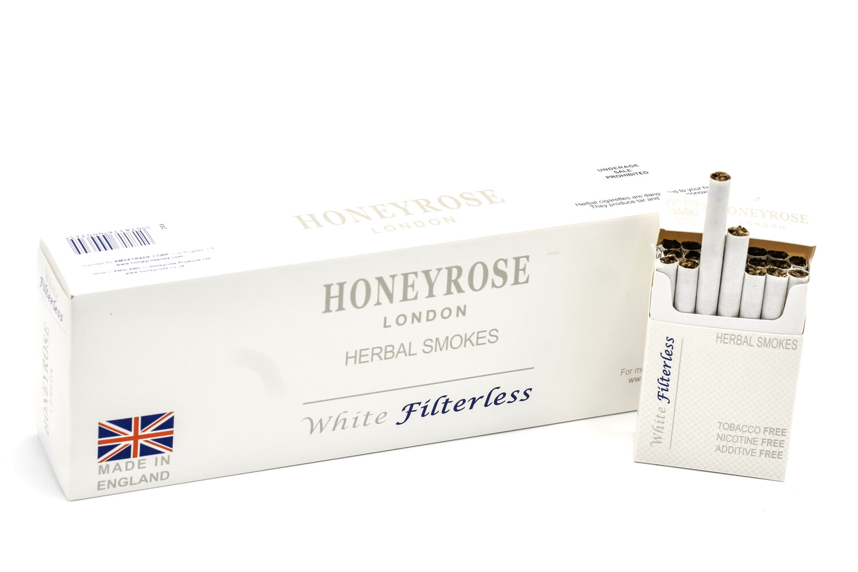 Honeyrose WHITE FILTERLESS, Carton of 10 Packs