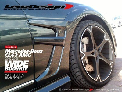 Mercedes-Benz CL 63 AMG C216 Lenzdesign Bodykit - Front Fender Flares