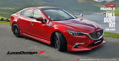Mazda 6 2013-2017 - 4 pcs. Body Kit - Front Spoiler / Side Skirts / Rear Skirt - economy shipping (side skirts divided in 2 parts)