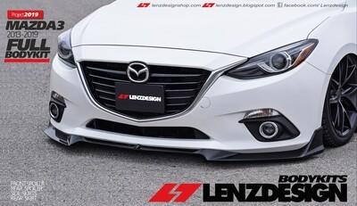 Mazda 3 BM/BN Front Spoiler Lenzdesign 2013-2019