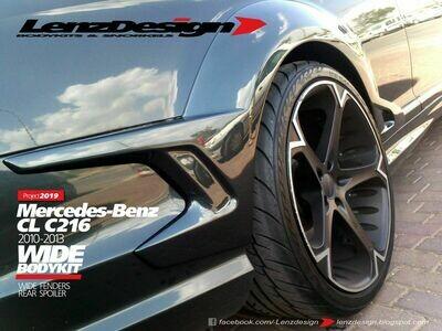 Mercedes-Benz CL 63 AMG C216 Lenzdesign Bodykit - Rear Fender Flares