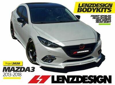 Mazda 3 BM/BN Lenzdesign Bodykit -5PC- Front Spoiler. Side Skirts. Rear Skirt. Rear Spoiler 2013-2019