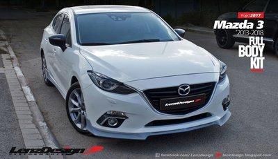 Mazda 3 BM/BN Lenzdesign Bodykit -4PC- Front Spoiler. Side Skirts. Rear Skirt 2013-2019