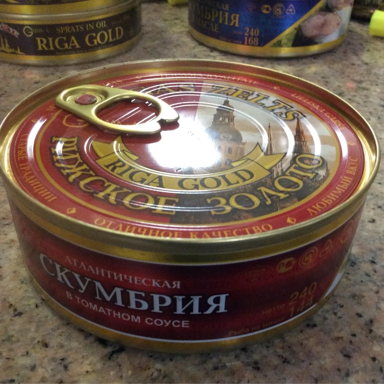 Riga Gold Mackerel In Tomato Sauce 240 gr AmberRye, Can W Lid